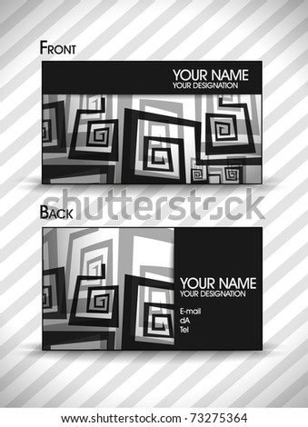 vector business card set for design. Eps10, vector illustration - stock vector