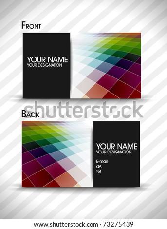 vector business card set for design. Eps10, vector illustration - stock vector