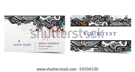 vector business card set, for more business card of this type please visit my gallery . - stock vector