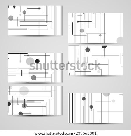 Vector businesscard set your design circuit stock vector 2018 vector business card set for your design circuit board illustration colourmoves