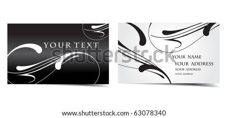 vector business card set, vector design. - stock vector