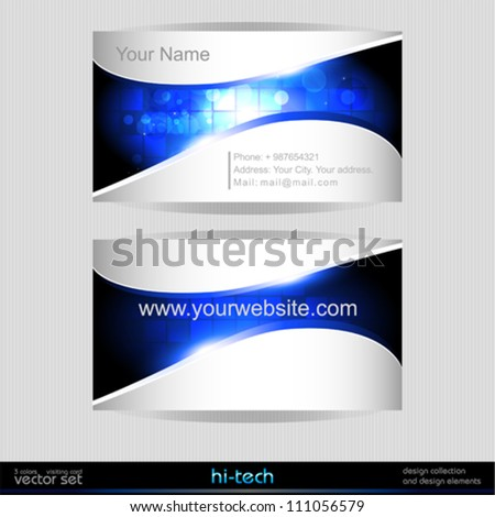 Vector business card template. - stock vector