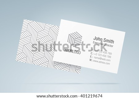Vector business card template elegant business stock vector vector business card template elegant business card with generic company logo contact information accmission Gallery