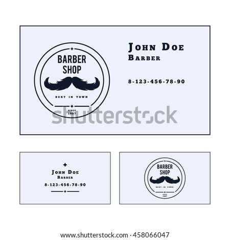 Vector Business Card Template Barber Shop Stock Vector - Barber business card template
