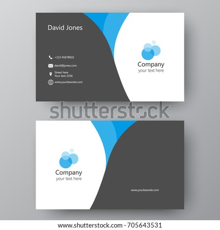 Vector business card template visiting card stock vector 705643531 vector business card template visiting card for business and personal use modern presentation card colourmoves