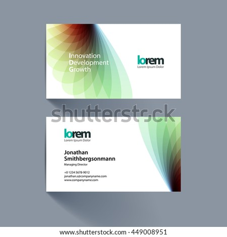 Vector business card template green soft stock vector 2018 vector business card template with green soft shapes and waves background for business and beauty with reheart Gallery