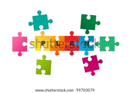 vector business concept jigsaw puzzle - stock vector