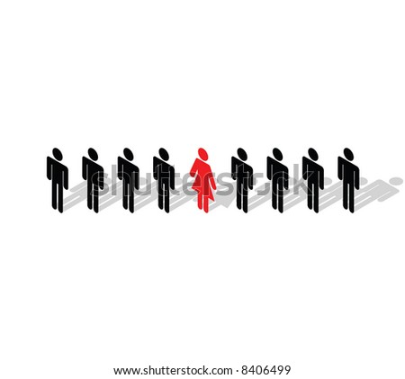Vector - Business Concept - Stand out from the crowd. Be different