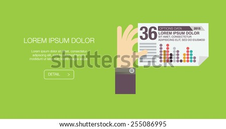 Vector business concept - start up infographic design elements in flat style - stock vector