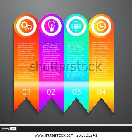 Vector Business Elements Infographics Tapes. Web template - web page, website layout. - stock vector