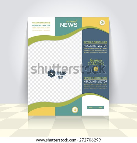 Vector Business Flyer, Brochure. Cover Template, Corporate Leaflet Design - stock vector