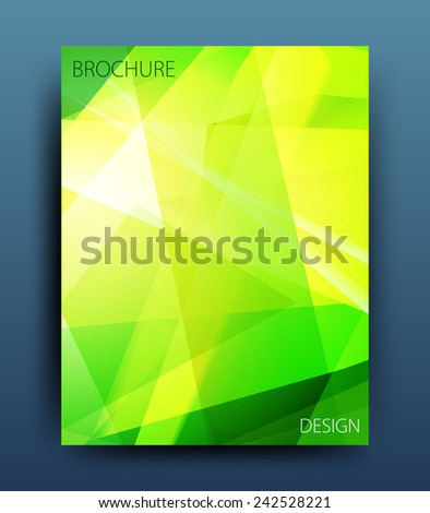 vector business flyer template or corporate banner design  - stock vector