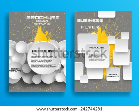 Vector Business Flyer Template or Corporate Design . Brochure Design Template . Cover Design . Abstract Modern Background  - stock vector