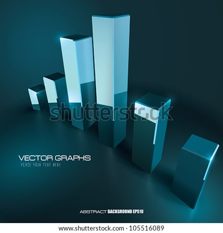 Vector Business Graph background - stock vector