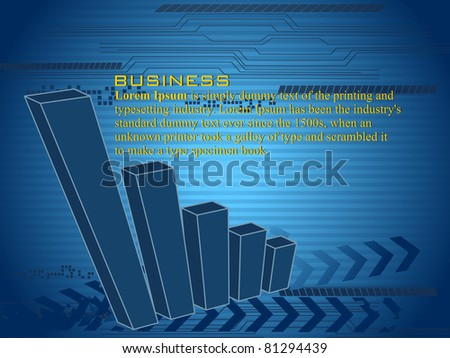 vector business graph background, illustration - stock vector