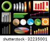 Vector business graphs - stock