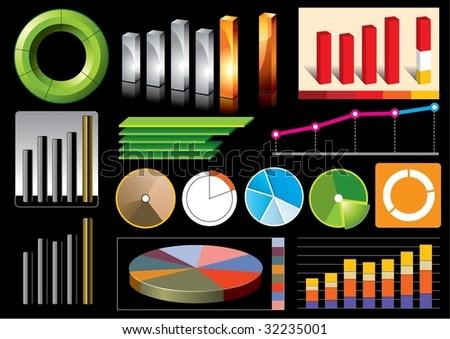 Vector business graphs - stock vector
