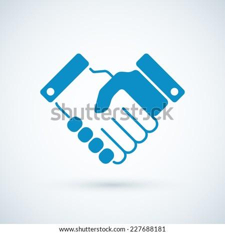 Vector business handshake icon. - stock vector