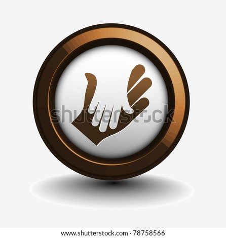 vector business  icon of shaking hands design.