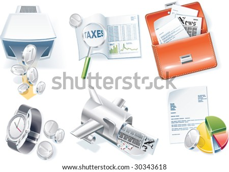 Vector business icon set. Part 2 - stock vector