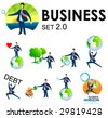 vector business illustrations - stock vector
