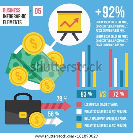Vector Business Infographic Elements.  - stock vector