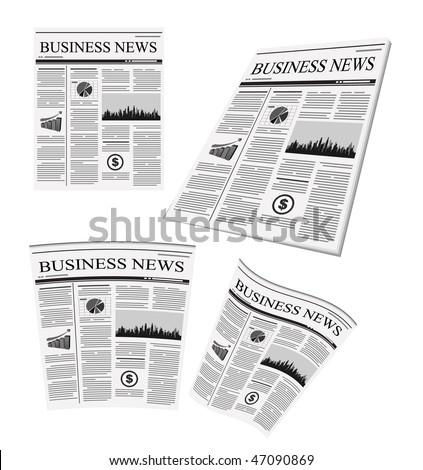 vector business newspaper - stock vector