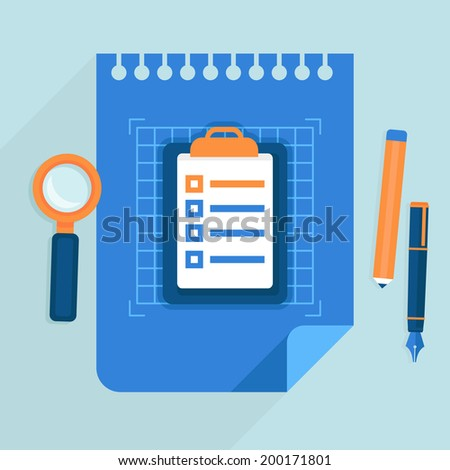 Vector business plan concept - icon in flat style - project management and strategy - stock vector