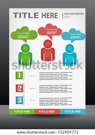 Vector business presentation, brochure, flyer, magazine cover & poster design template