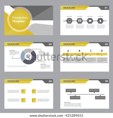 Vector Business Blue Presentation Template Slides Stock Vector
