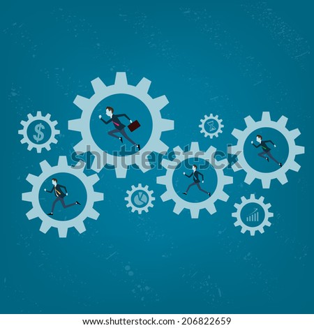 Vector business processing backgrounds - stock vector