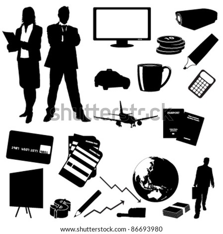 Vector Business  silhouettes collection - stock vector