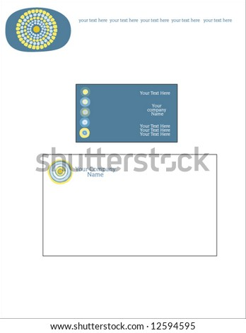 Vector business stationery set