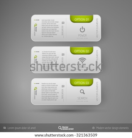 Vector business stickers template for web designs, presentations, education, brochures, infographics and flyers. - stock vector