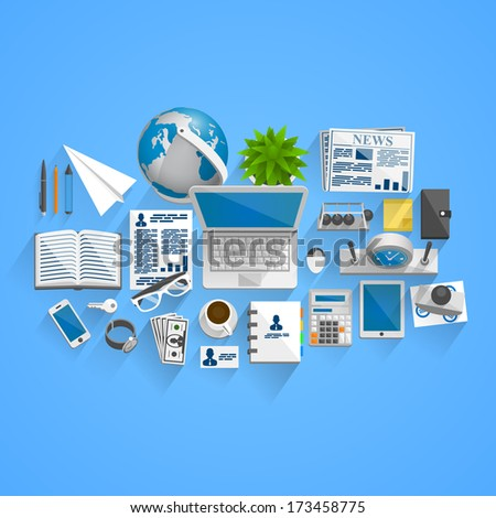 Vector business style - stock vector