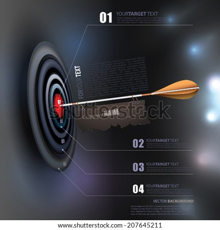 Vector Business Target - stock vector
