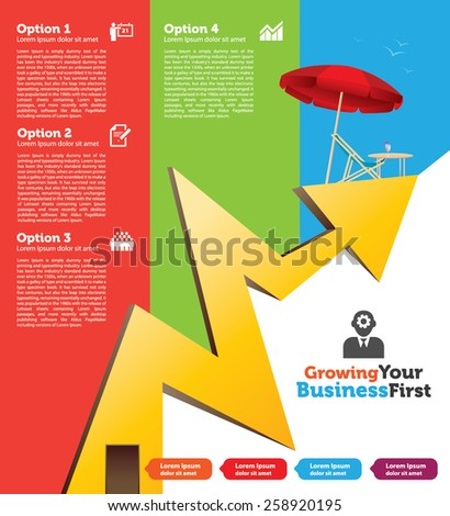 Vector Business Template For your Growing Business - stock vector