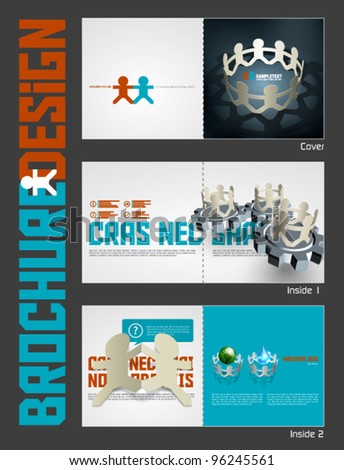 Vector Business Theme Brochure Layout Design Template - stock vector