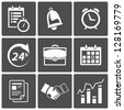 Vector Business Time and scheduling icons - stock vector