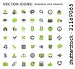 vector business web finance icons 01 - stock vector