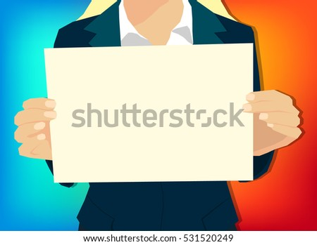 Vector Business Woman Holding Glass Icons Stock Vector 531435181 ...