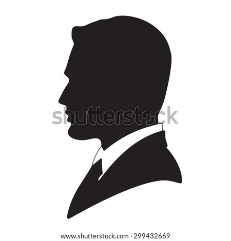 Vector businessman avatar profile picture - stock vector