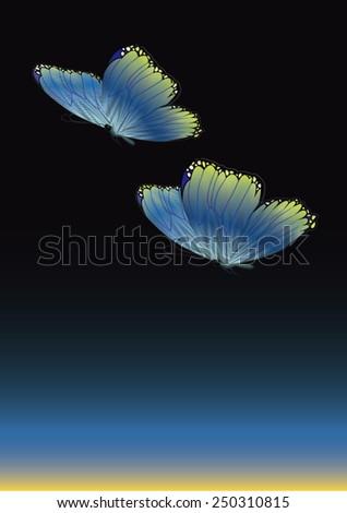 Vector butterfly illustration. - stock vector