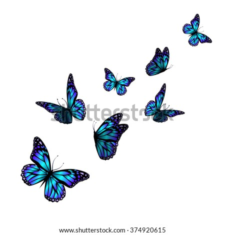vector butterfly with hearts on wings. Vector - stock vector