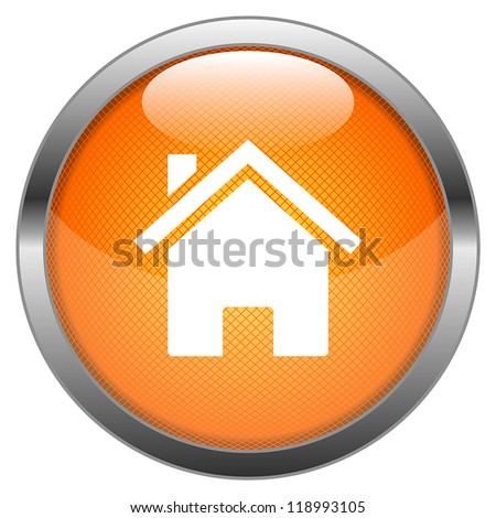 Vector Button Home - stock vector