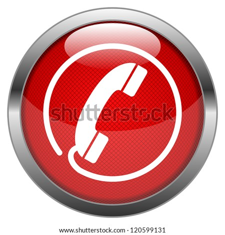 Vector Button Hotline - stock vector