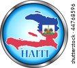 Vector Button Icon for Haiti. - stock photo