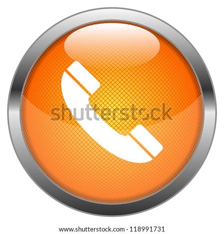 Vector Button Phone - stock vector
