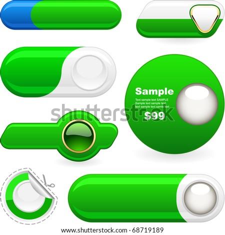 Vector button set for web. - stock vector