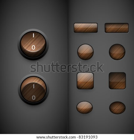 vector buttons - stock vector